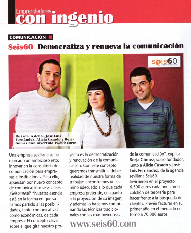 Seis60 en la revista Emprendedores
