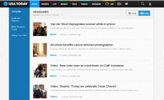 Portal Web Actual del Usa Today