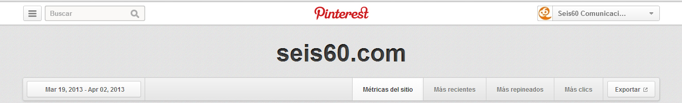 Opciones de Análisis de Pinterest
