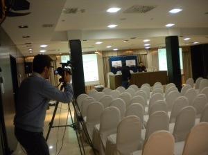 Preparación del equipo audiovisual (2010)
