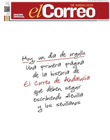 Portada de la edición especial de El Correo de Andalucía.
