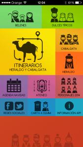 Nuevo diseño de la aplicación móvil Cabalgata Ateneo de Sevilla 2014