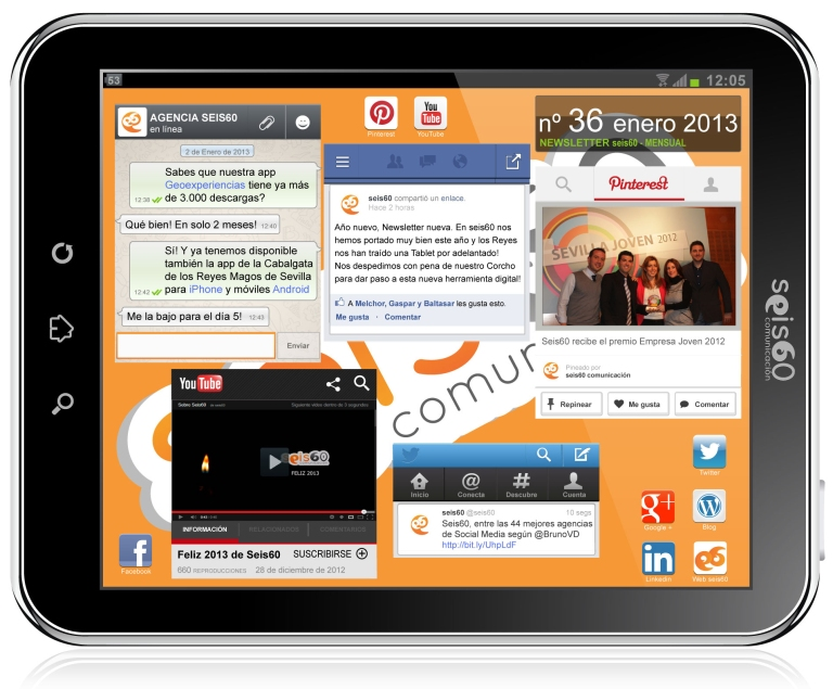 Nuestra Newsletter mensual 'La Tablet de Seis60'