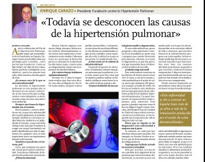 Entrevista Día Mundial Hipertensión Pulmonar