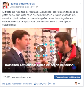 Vídeo Somos Optometristas