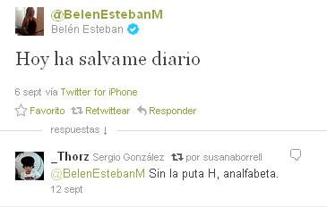 Tuit Belén Esteban
