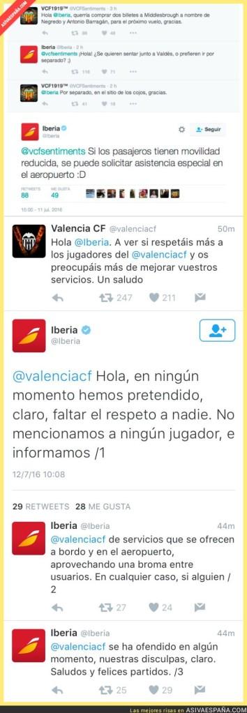 Tuits Iberia vs Valencia C.F.