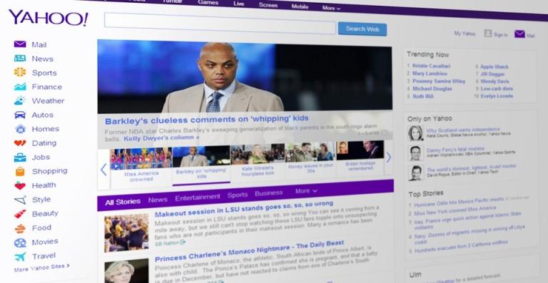 Portal de noticias Yahoo